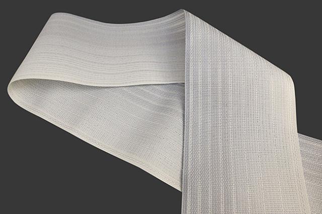 西村織物 悦 博多織 正絹半幅帯 粗紗 かがり仕立付 帯 グラデーション 絹100% グレー