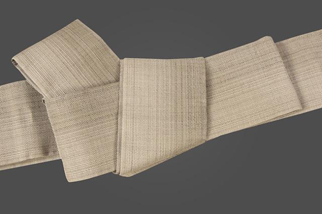 博多織 西村織物 角帯 麻 からむし織 茶
