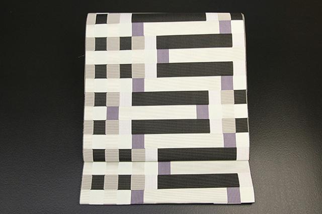 西村織物 博多織 八寸名古屋帯 マラケシュ レイユール お仕立て付き 紫
