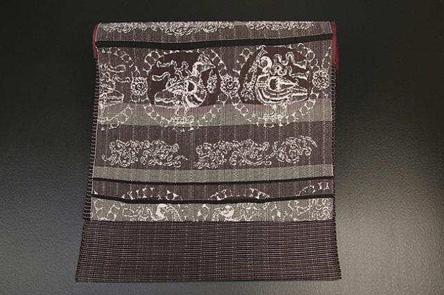 西村織物 博多織 正絹 九寸名古屋帯 西域記 鴨連珠文 お仕立て付き