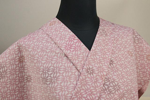 栗山工房 木綿着物 オーダーお仕立て付き よろけ菊 ピンク ◆女性にオススメ◆
