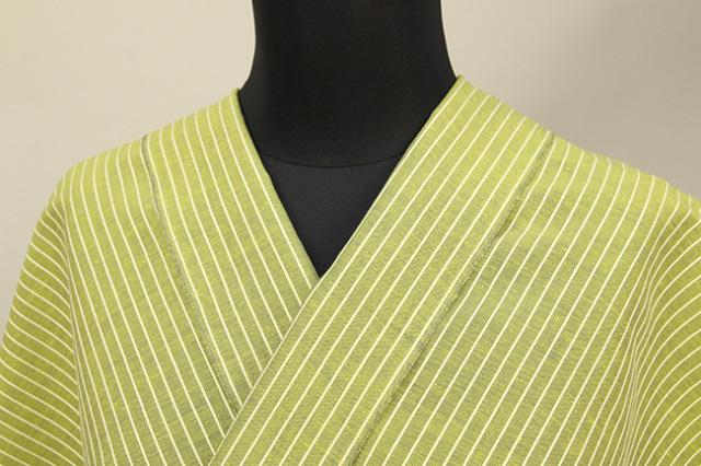 夏のKIPPE(きっぺ) 涼しま よねざわもめん 綿麻 オーダーお仕立て付き 濃黄 ◆男女兼用◆ 05