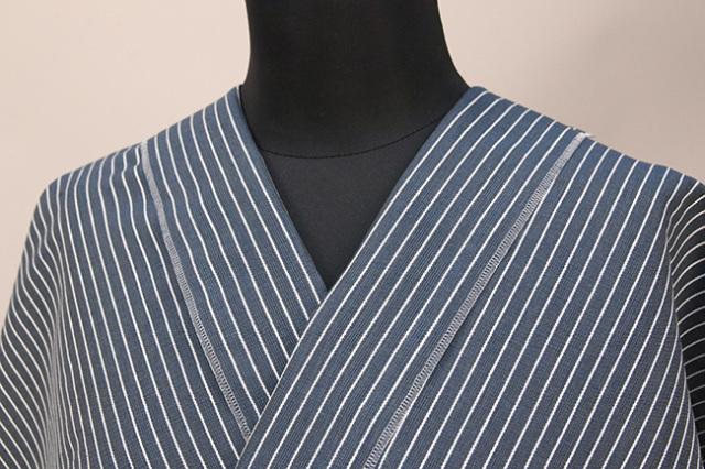 夏のKIPPE(きっぺ) 涼しま よねざわもめん 綿麻 オーダーお仕立て付き 紺 ◆男女兼用◆ 09
