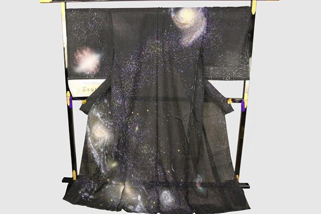 夏着物 デジタル小千谷 小千谷ちぢみ 杉山織物 楊柳 オーダー仕立て付き 宇宙
