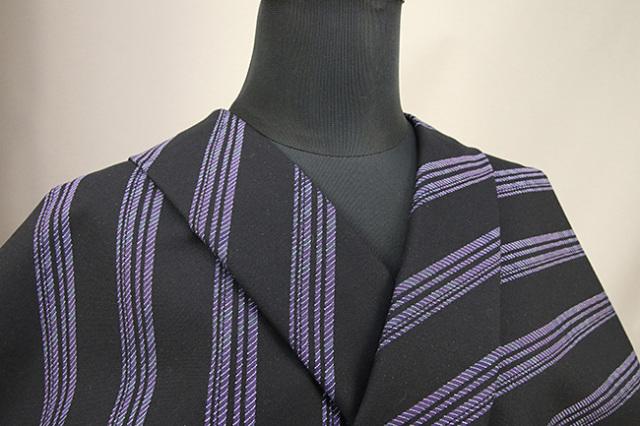 Kimono Factory nono 木綿着物 オーダーお仕立て付き GRITTER(グリッター)バイアス 紫