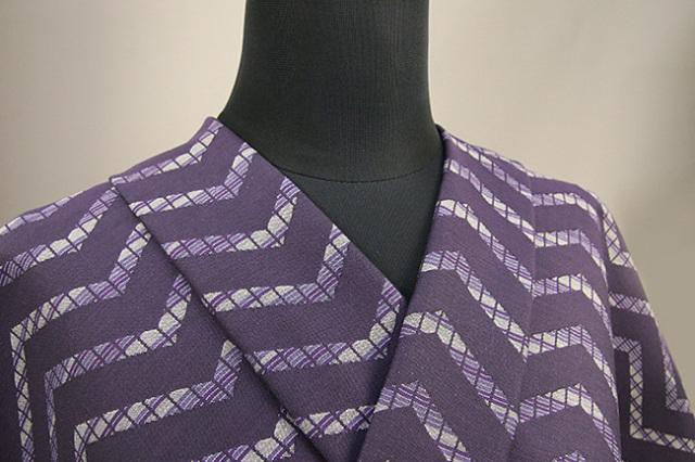 Kimono Factory nono 木綿着物 オーダーお仕立て付き GRITTER(グリッター)蘇鉄 紫