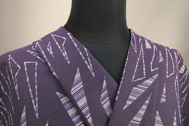 Kimono Factory nono 木綿着物 オーダーお仕立て付き GRITTER(グリッター)欠片 紫