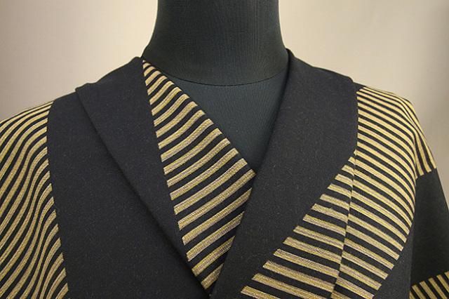 Kimono Factory nono 木綿着物 オーダーお仕立て付き GRITTER(グリッター)スライド 金