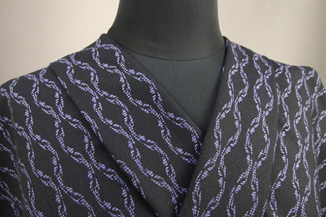 Kimono Factory nono 木綿着物 オーダーお仕立て付き GRITTER(グリッター)チェーン 紫