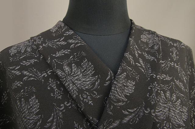 Kimono Factory nono 木綿着物 オーダーお仕立て付き GRITTER(グリッター)アイビー 黒