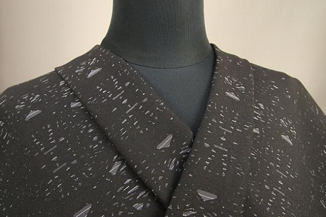 Kimono Factory nono 木綿着物 オーダーお仕立て付き GRITTER(グリッター)カレイド 黒