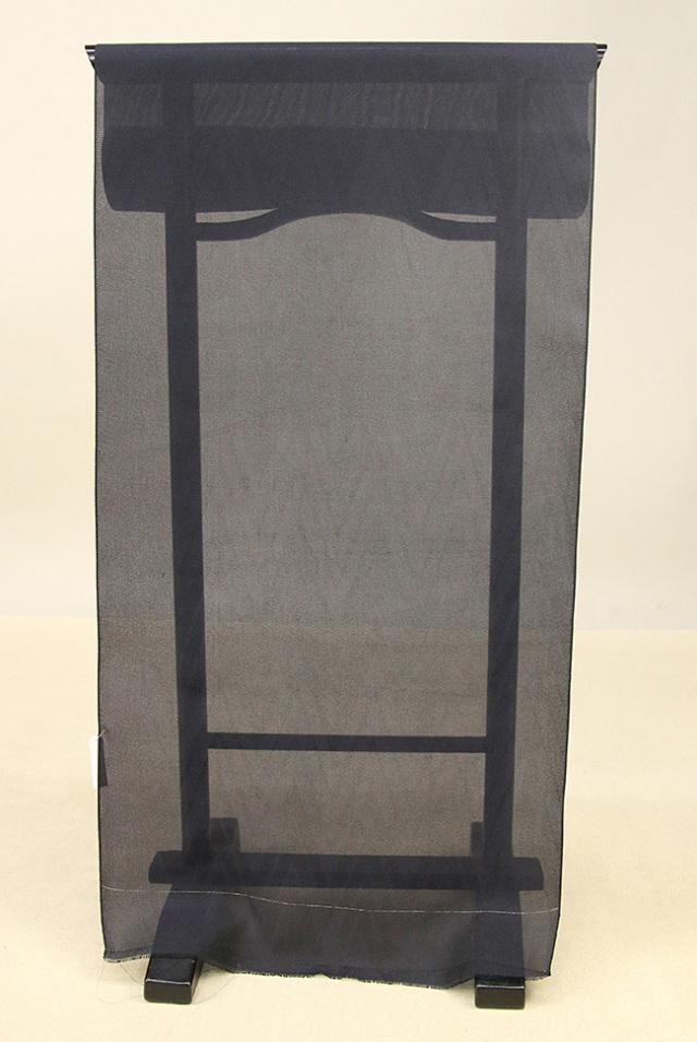 ワタマサ 羽尺 正絹 オーダー仕立て付 ヘリンボーン 黒 B反