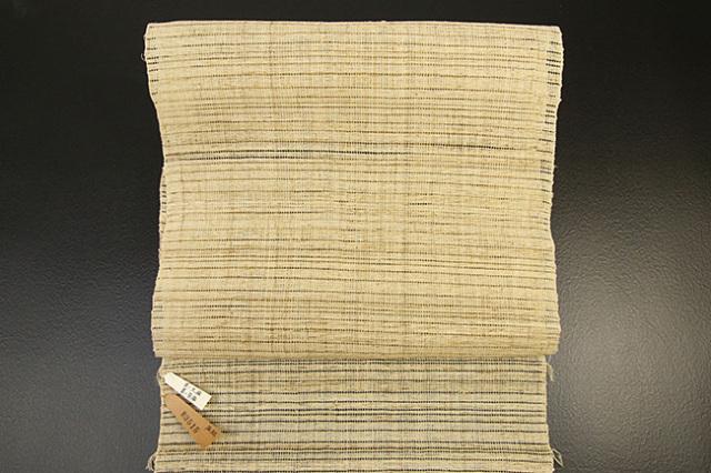 【再入荷】大麻糸使用 本麻手織 八寸名古屋帯 お仕立て付き