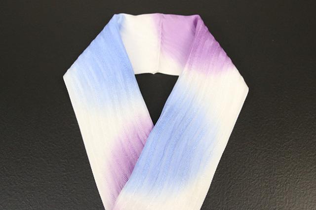 れん 正絹半衿 丸暈し 薄紫×薄青