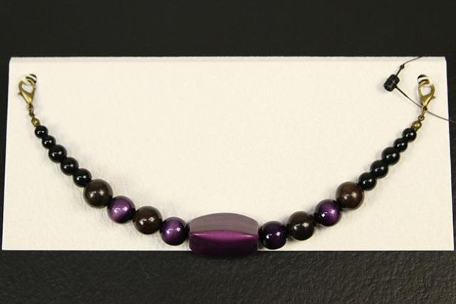 男性用羽織紐 和小物さくら アクリル樹脂 オニキス 紫