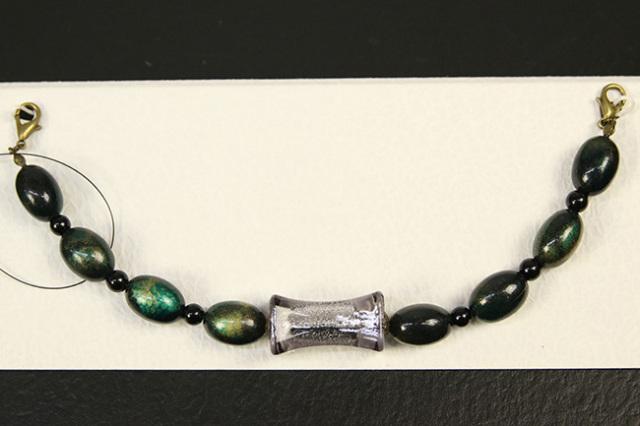 男性用羽織紐 和小物さくら アクリル樹脂 オニキス 緑