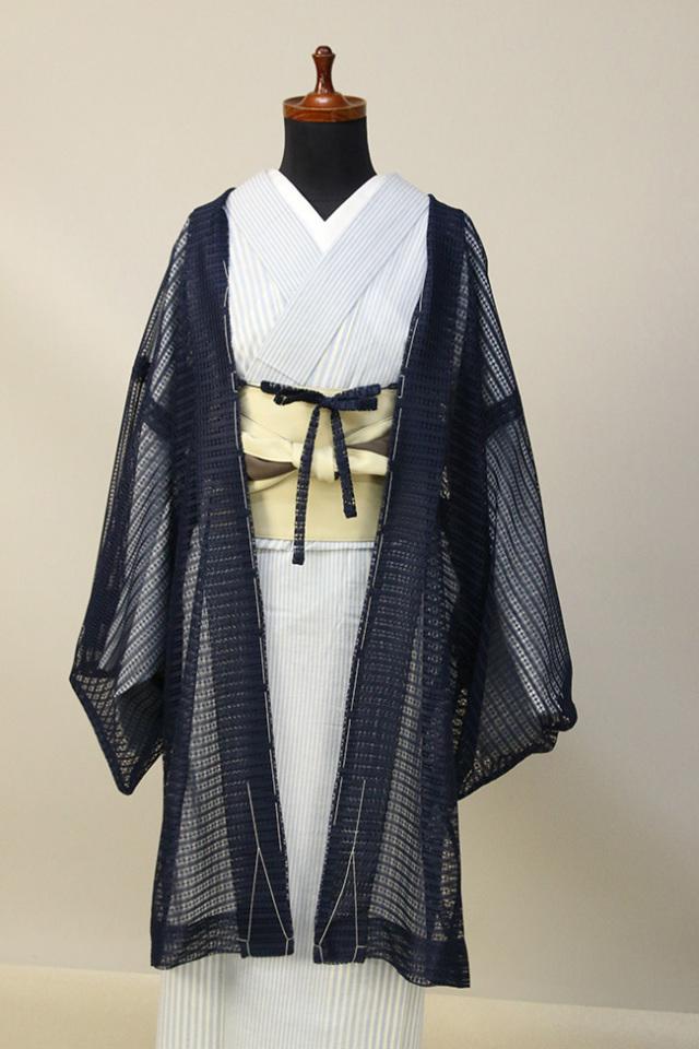 Kimono Factory nono レースの薄羽織 Sheer ネイビー