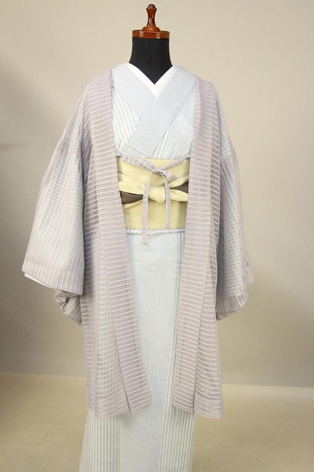 Kimono Factory nono レースの薄羽織 Sheer グレー