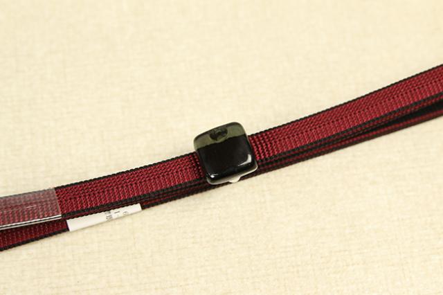 帯締め帯留めセット 赤黒