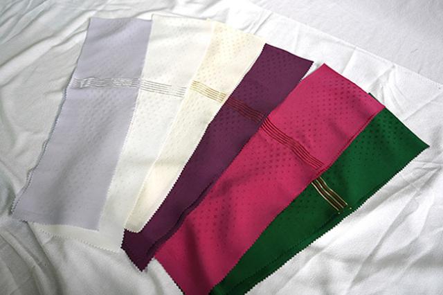 【受注商品】柴田織物 正絹半襟 半衿 縫取り 選べる6色