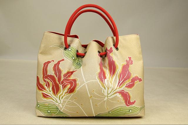 栗山工房 紅型染 オリジナルバッグ グロリオサ あづまや てれびじょんデザイン企画 特別商品