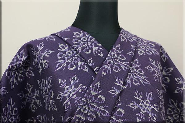 Kimono Factory nono 木綿着物 オーダーお仕立て付き GRITTER(グリッター)炎雪 紫