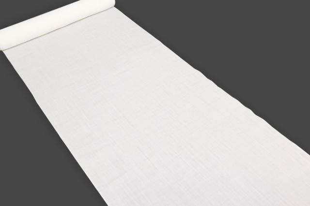 小千谷 本麻長襦袢 オーダー仕立付き!  吉新織物 白 キングサイズ 100番手 広幅 男女兼用/