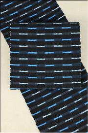 正絹 八寸名古屋帯 お仕立て付き さがのカーネーション 黒x水色