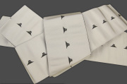 博多織 西村織物 角帯 正絹 片風通 富士山 グレー
