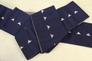 博多織 西村織物 角帯 正絹 片風通 富士山 紺