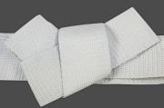博多織 西村織物 角帯 正絹 浮遊 灰