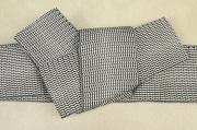博多織 西村織物 角帯 正絹 浮遊 白×黒