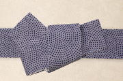 米沢織 角帯 季織苑工房 米織小紋 綿 行儀 灰