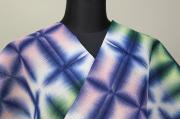 板締め絞浴衣(ゆかた) 綿麻紅梅 オーダー仕立て付き 藤井絞  カラフル ◆女性にオススメ◆