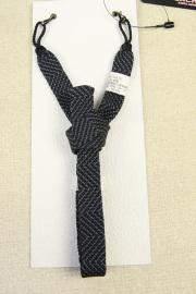 和小物さくら 男性用羽織紐 正絹 直付けタイプ 組紐 灰×黒 ストライプ