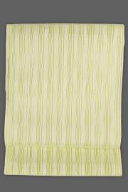西村織物 博多織 八寸名古屋帯 正絹 羅 お仕立て付き 黄×白 ストライプ