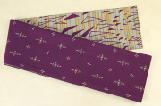 Kimono factory nono 半幅帯 綿 グリッター ラメ 小華 欠片 紫