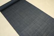 石川県指定無形文化財 本麻手織 能登上布 麻100% オーダー仕立付き 紺 ストライプ