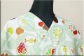 栗山工房 紅型染 手織り木綿着物 オーダーお仕立て付き あづまやオリジナル KICHISABURO 果物 ミントグリーン ◆女性にオススメ◆