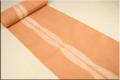 【アウトレットセール】 5−9きもの スマートライン オレンジ 綿麻着物  オーダーお仕立付き! 女性にオススメ