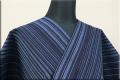 遠州木綿 木綿着物 オーダーお仕立て付き 変わり縞 s-01- 短夜MIJIKAYO ◆男女兼用◆