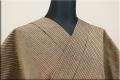 出羽木綿 オーダーお仕立付き 洗える普段着着物 上杉藩 子持ち縞 茶橙 No.18  ◆男女兼用◆