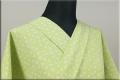 絹木綿着物 オーダーお仕立付き 洗える普段着着物 大正友禅xきくちいま 薄緑 ◆女性にオススメ◆