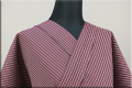 KIPPE(きっぺ) よねざわもめん オーダーお仕立て付き 縞 紫色 ◆男女兼用◆.