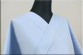 KIPPE(きっぺ) よねざわもめん オーダーお仕立て付き 縞 水色 ◆男女兼用◆.