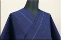 松阪木綿 木綿着物 オーダーお仕立て付き 普段着きもの 藍染 藍色 細縞 ◆男女兼用◆.