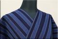 松阪木綿 木綿着物 オーダーお仕立て付き 普段着きもの 藍染 藍色 ◆男女兼用◆.