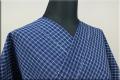 松阪木綿 木綿着物 オーダーお仕立て付き 普段着きもの 藍染 藍色 格子 ◆男女兼用◆.