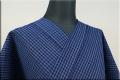松阪木綿 木綿着物 オーダーお仕立て付き 普段着きもの 藍染 藍色 格子2 ◆男女兼用◆.