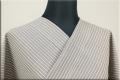 夏のKIPPE(きっぺ) 涼しま よねざわもめん 綿麻 オーダーお仕立て付き ココアグレー ◆男女兼用◆
